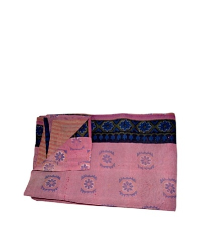 Vintage Kantha Throw Kanti, Multi, 60 x 90