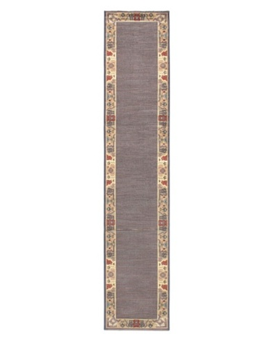 Alicante Rug, Cream/Navy, 2' 3 x 10' 9 Runner