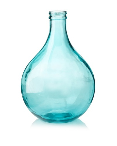 Glass 16.5 Vase, Teal