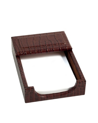 Memo Holder, Brown Croc