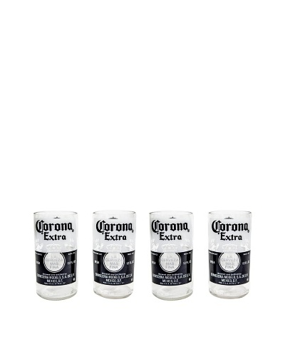 Set of 4 Corona Extra Beer Glasses