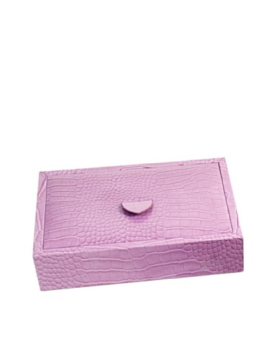 Leather Jewelry Valet, Pink