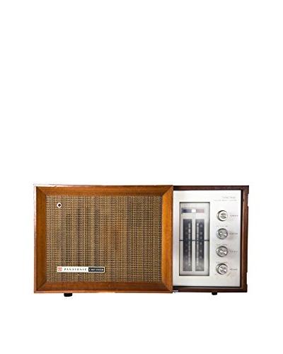 1960s Vintage Panasonic Radio, Brown/Silver