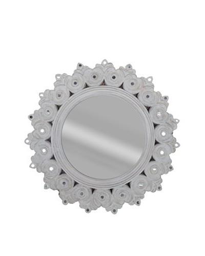 Sunflower Mirror, White