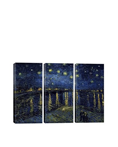 Vincent Van Gogh Starry Night Over The Rhone 3-Piece Canvas Print