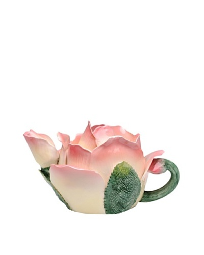 Ceramic Pink Rose Teapot