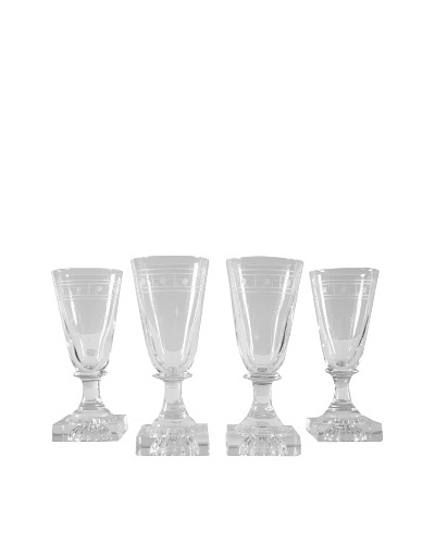 Set of 4 French Petite Champagne Glasses