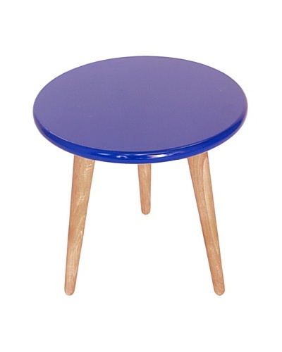 High Lacquer Stool, Cobalt Blue