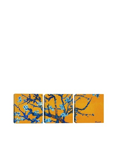 """Almond Blossom by Vincent Van Gogh (Panoramic), Orange, 48"""" x 16""""As You See"""