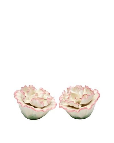 Porcelain Carnation Salt & Pepper Shaker Set