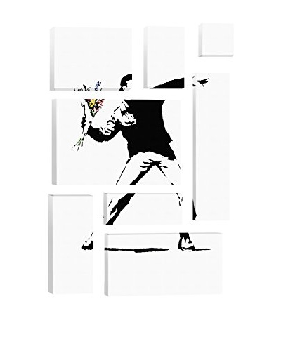 Banksy Rage, Flower Thrower 8-Piece Giclée On Canvas