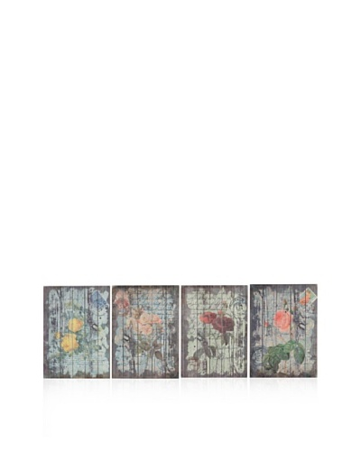 Set Of 4 Floral Wall Art