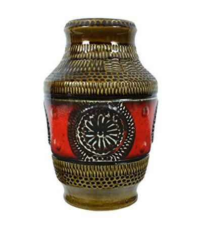 1960s West Germany Vase, Brown/Red