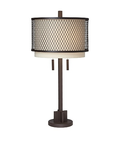 Industrial Double Shade Table Lamp
