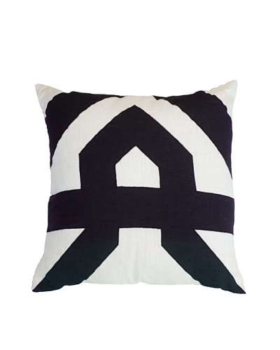 Aztec Lounge Pillow, Black/White, 21 x 21