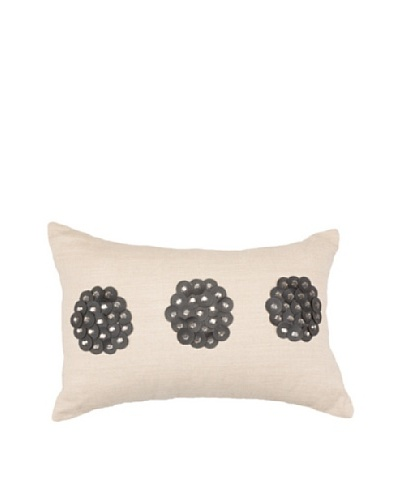 African Circles Pillow, Black/Beige, 14 x 21As You See