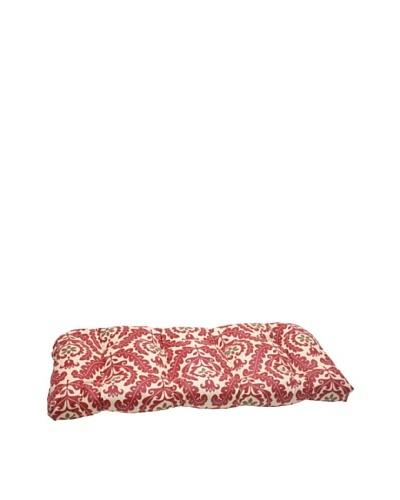 Waverly Sun-n-Shade Meridian Henna Wicker Loveseat Cushion [Red/Brown/Tan]
