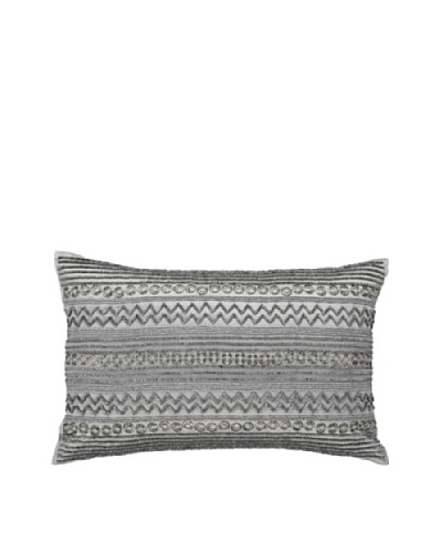 Steele Rings Pillow, Silver, 14 x 21