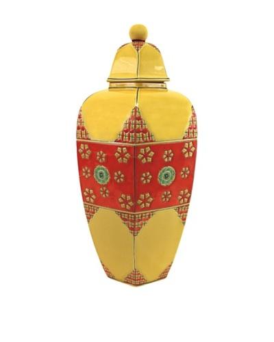 Adana Jar, Mustard Yellow/Red