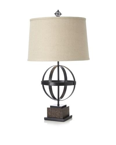 Global Exploration Table Lamp, Black/Brown