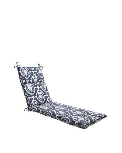 Waverly Sun-n-Shade Meridian Pool Chaise Lounge Cushion [Navy/Aqua/Cream]
