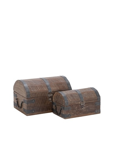 Set of 2 Reclaimed Wooden Chests