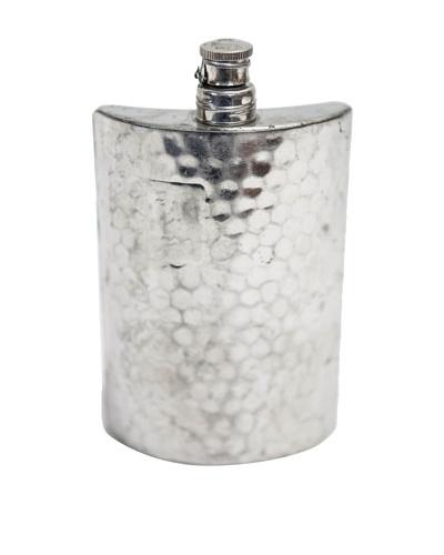 Vintage Circa 1930's Hammered Pewter Flask