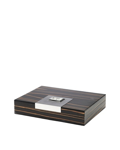 Lacquered Wood Humidor, EbonyAs You See