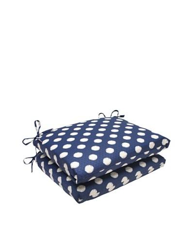 Waverly Sun-n-Shade Set of 2 Solar Spot Pool Seat Cushions [Navy/Cream]