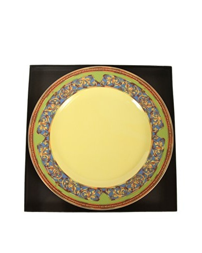 Versace By Rosenthal Russian Dream Plate, Yellow/Blue/Lime Green