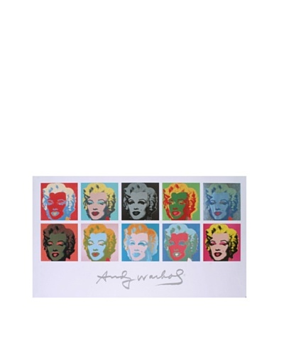 Andy Warhol: 10 Marilyns on White