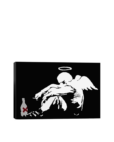 Banksy Drunken Angel #2 Canvas Print