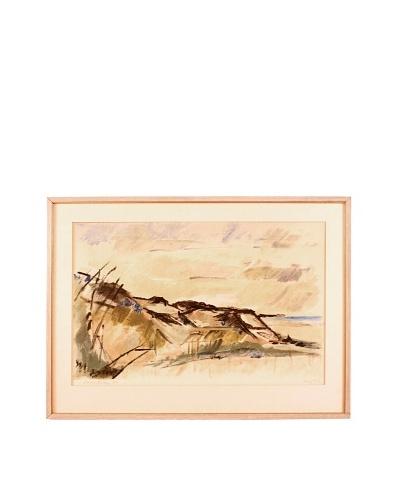 Landscape, 1968 Framed Artwork
