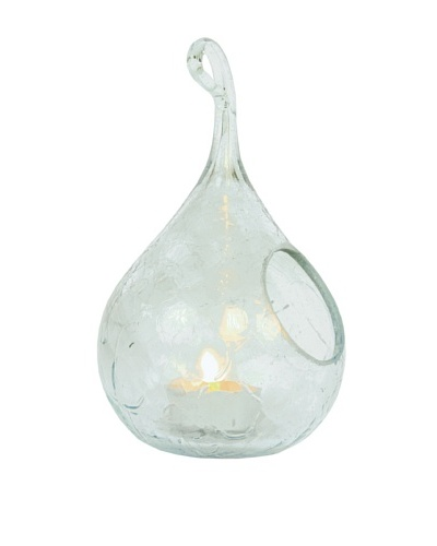 Small Scrappy Glass Candle Teardrop, Clear