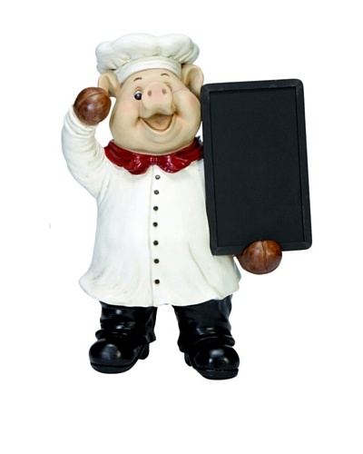 Pig Chef with Blackboard