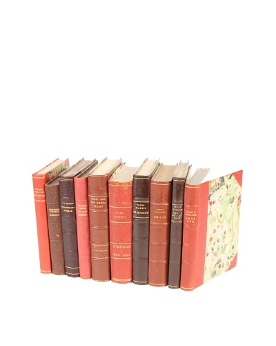 Set of 10 Vintage Leather Books VI