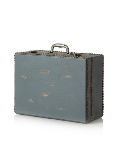 Wooden Suitcase, Blue