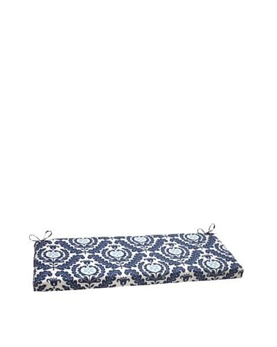 Waverly Sun-n-Shade Meridian Pool Bench Cushion [Navy/Aqua/Cream]
