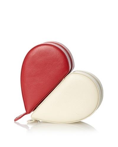Juliette Heart Case Pair, Red/Winter White