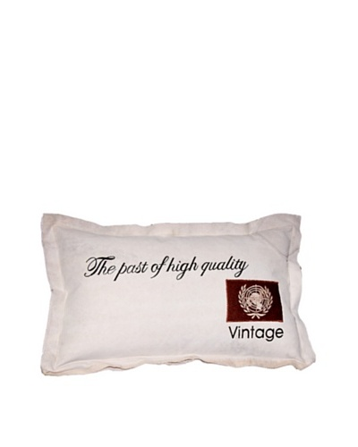 High Quality Vintage Pillow, Cream, 19X20