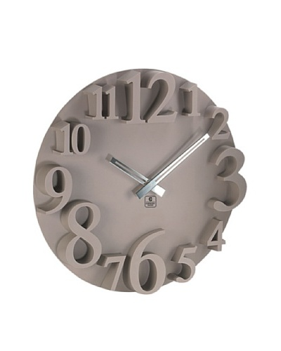 "Raised Numbers Wall Clock, 16"""