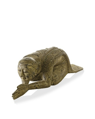 Doa Monk Statue, Gold/Bronze