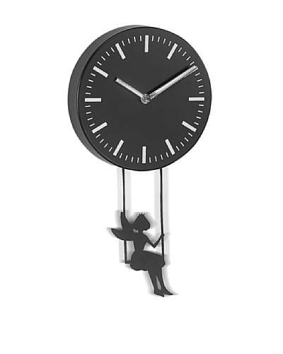 Girl Swinging Metal Pendulum Wall Clock, 10As You See