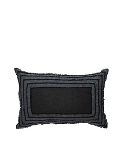 Edge Steele Pillow, Black, 14 x 21