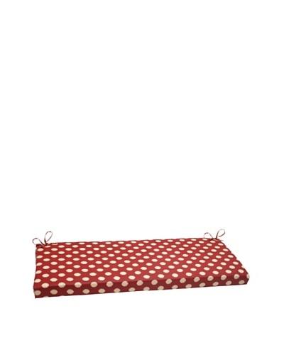 Waverly Sun-n-Shade Solar Spot Henna Bench Cushion [Red/Tan]