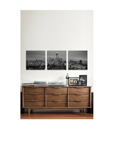 Seattle Panoramic Giclée Canvas Print Triptych