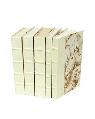 Set of 5 Parchment Collection Books, Natural