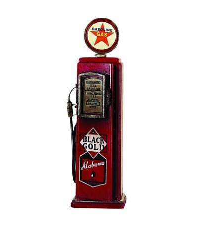 Red Vintage-Inspired Alabama Gas Pump