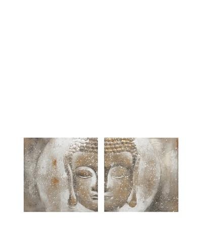 Texturized Buddah Oil on CanvasAs You See