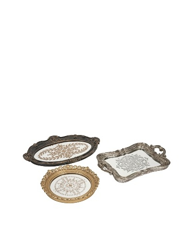 Set of 3 Assorted Hallet Trays